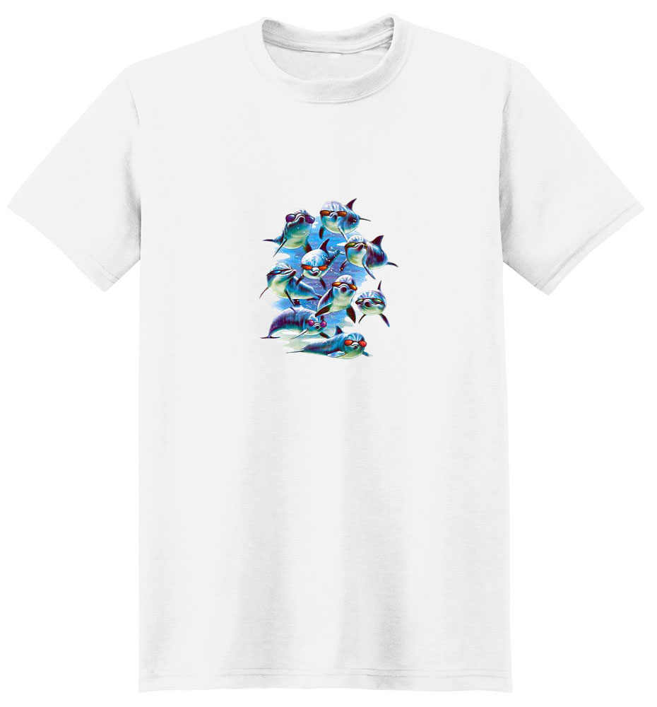 Dolphin T-Shirt - With Sunglasses