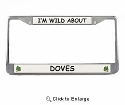 Dove License Plate Frame