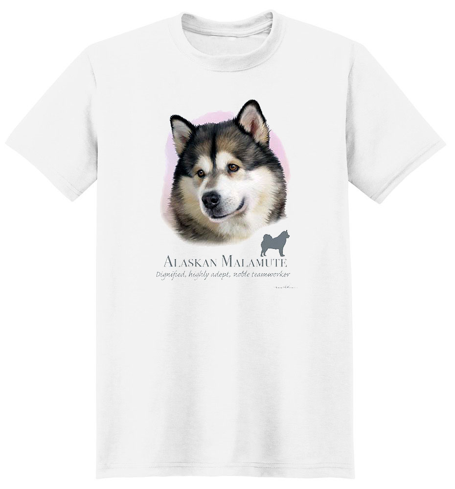 Alaskan Malamute T Shirt by Howard Robinson