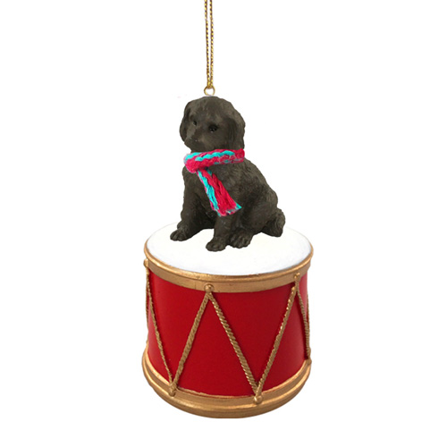 Little Drummer Labradoodle Chocolate Christmas Ornament