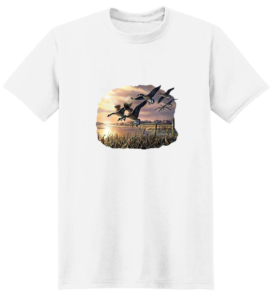 Geese T-Shirt - Gracefully Gliding