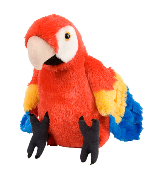 Macaw Scarlet Cuddlekins Plush Animal 14
