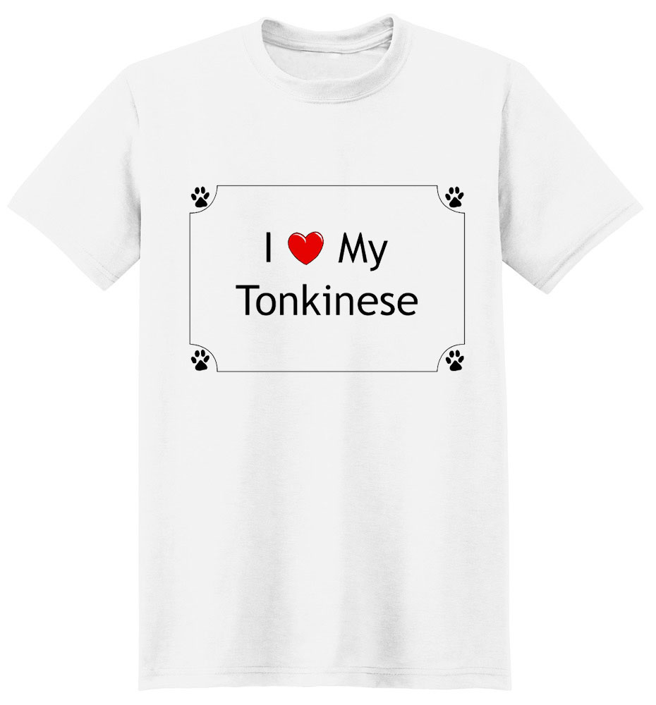 Tonkinese Cat T-Shirt - I love my