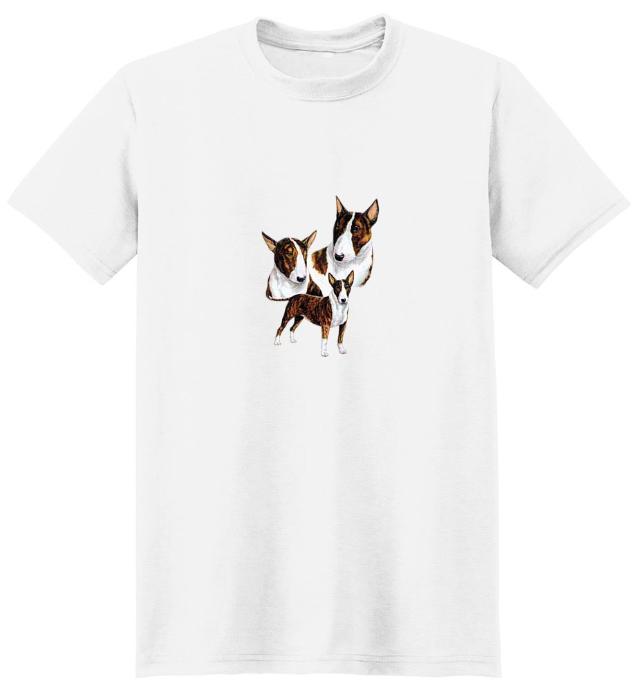 Bull Terrier T-Shirt - Best Friends Portrait Brindle