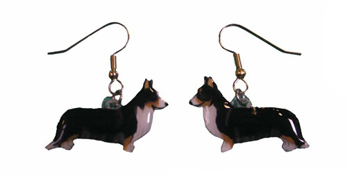 Welsh-Cardigan Corgi Earrings Hand Painted Acrylic