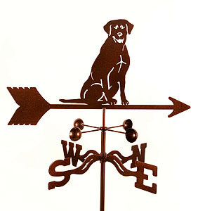 Black Lab Weathervane
