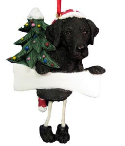 Black Lab Christmas Tree Ornament - Personalize