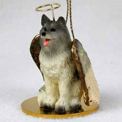 Keeshond Christmas Ornament Angel