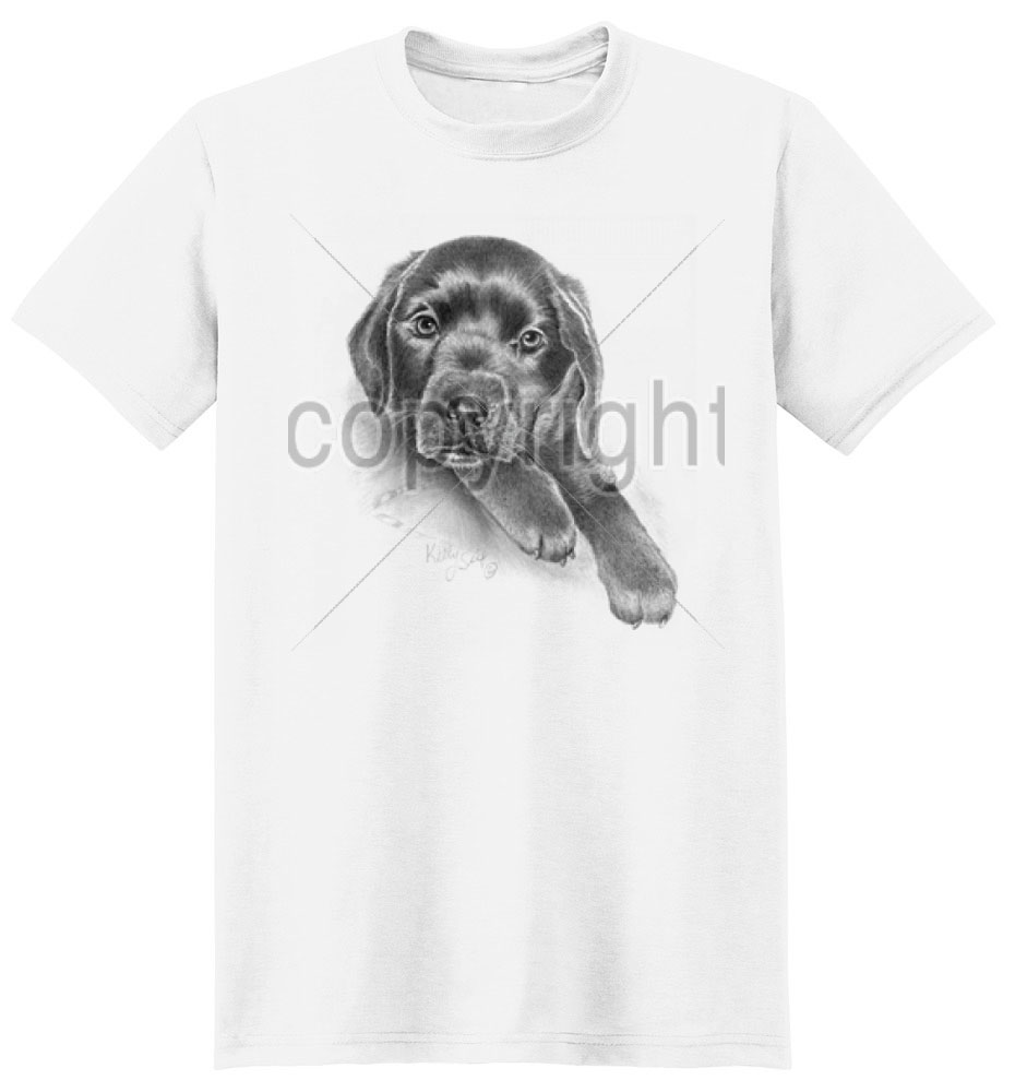 Black Lab T Shirt by Kelly Six
