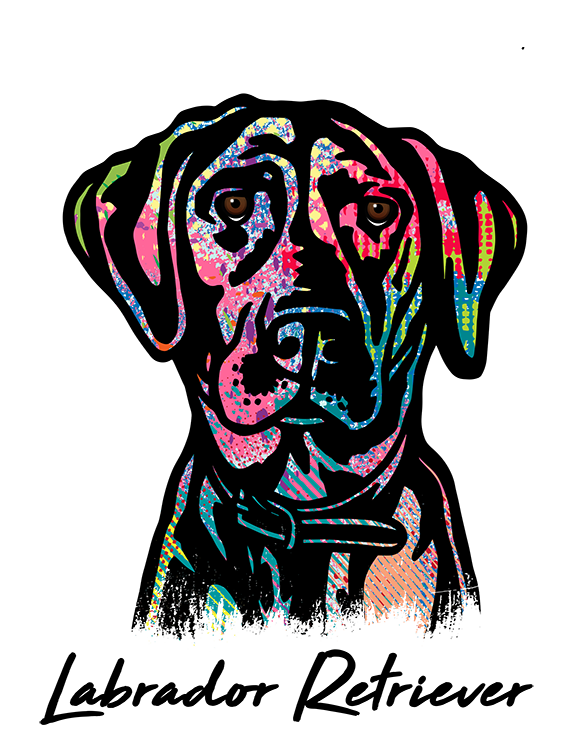 Labrador Retriever T Shirt Abstract