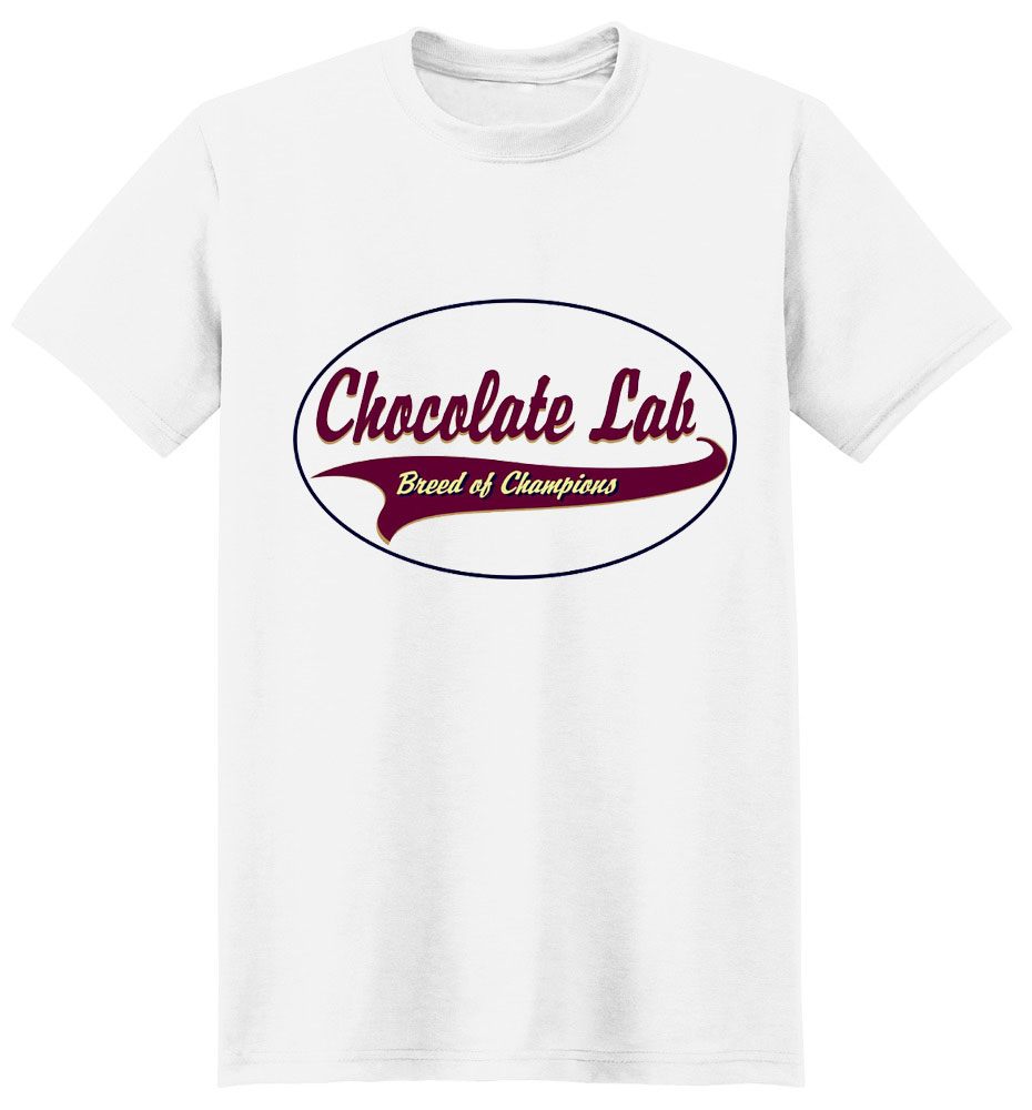 Chocolate Lab T-Shirt - Breed of Champions