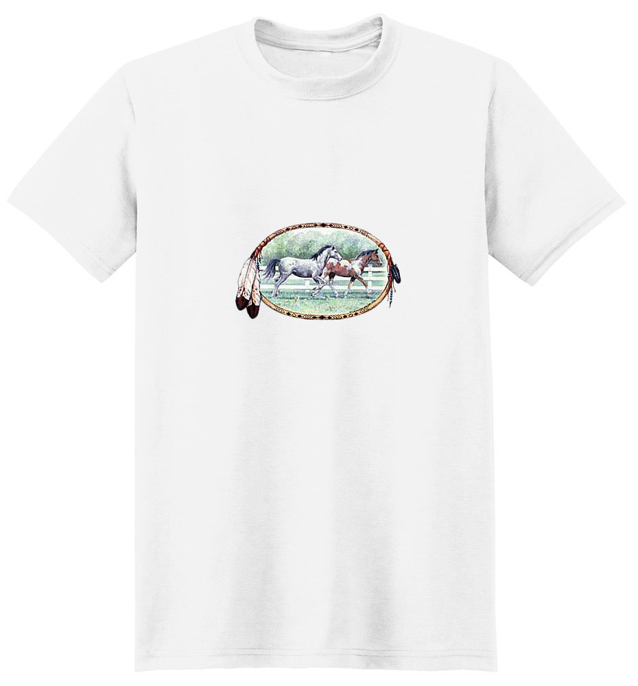 Paint Horse T-Shirt - Native American Flavor