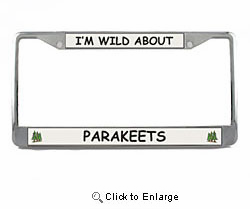 Parakeet License Plate Frame