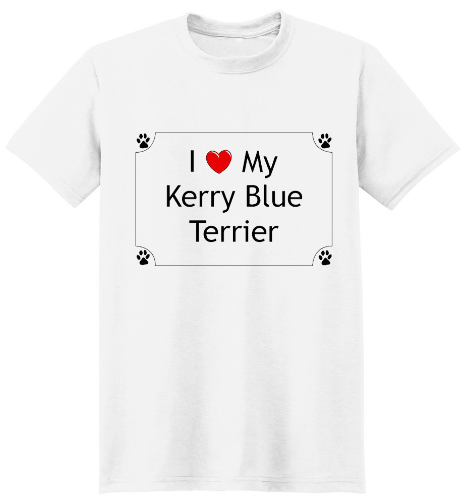 Kerry Blue Terrier T-Shirt - I love my
