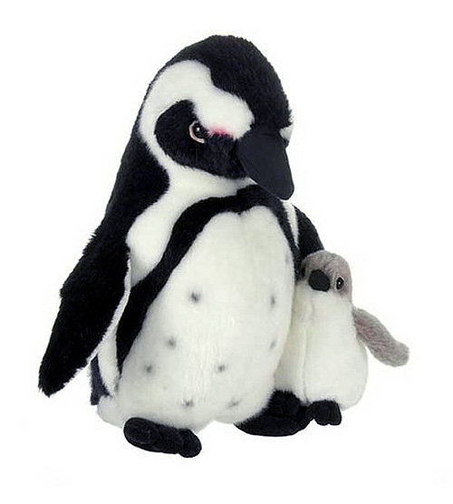 Stuffed Plush Penguin with Baby