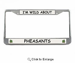 Pheasant License Plate Frame