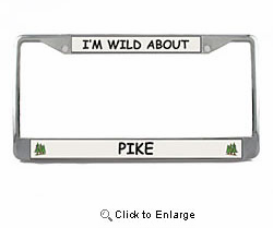 Pike License Plate Frame