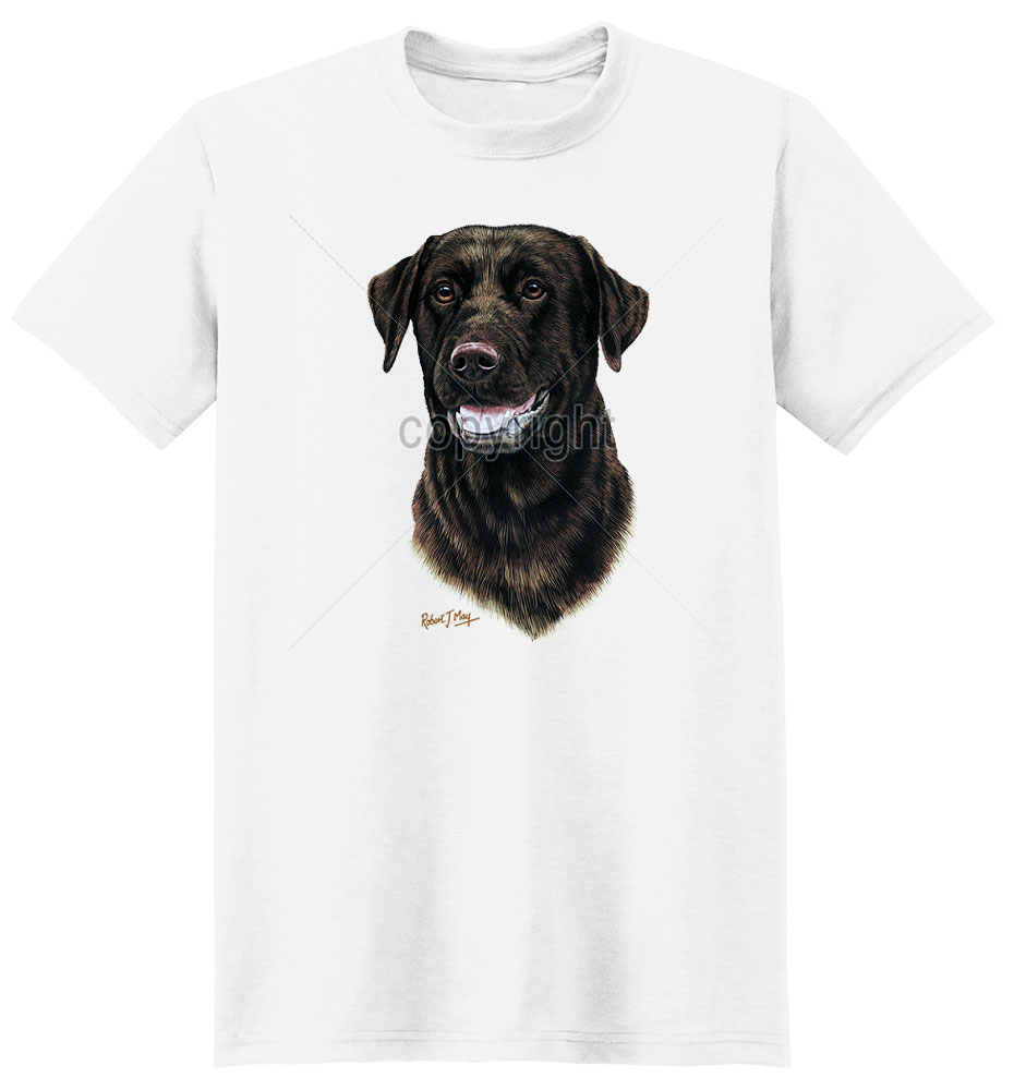 Chocolate Lab T Shirt by Robert May