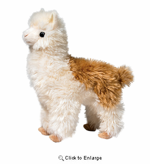 "Alpaca Plush Stuffed Animal ""Alice"" 10.5"""