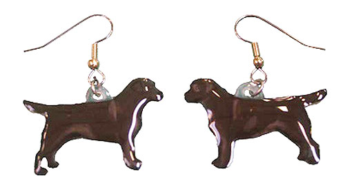 Chocolate Lab Earrings Hand Painted Acrylic