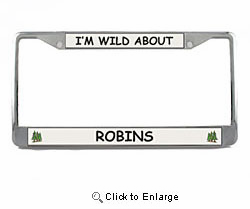 Robin License Plate Frame
