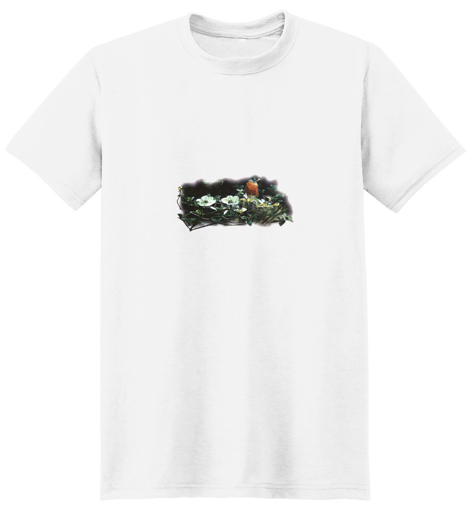 Robin T-Shirt - With Flowers