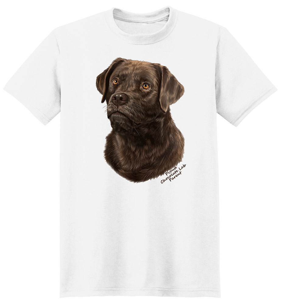 Chocolate Lab T Shirt - Proud Parent