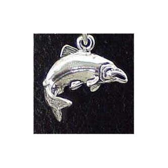 Salmon Sterling Silver Charm