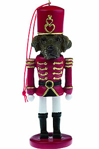 Chocolate Lab Ornament Nutcracker