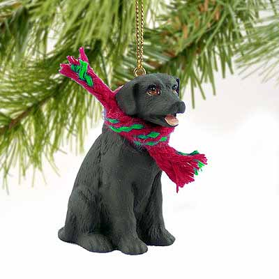 Chocolate Lab Tiny One Christmas Ornament