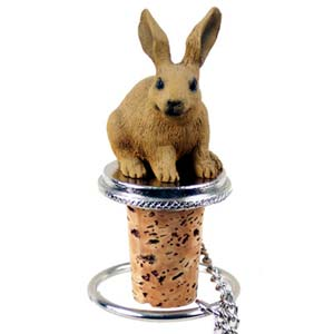 Rabbit Bottle Stopper (Brown)