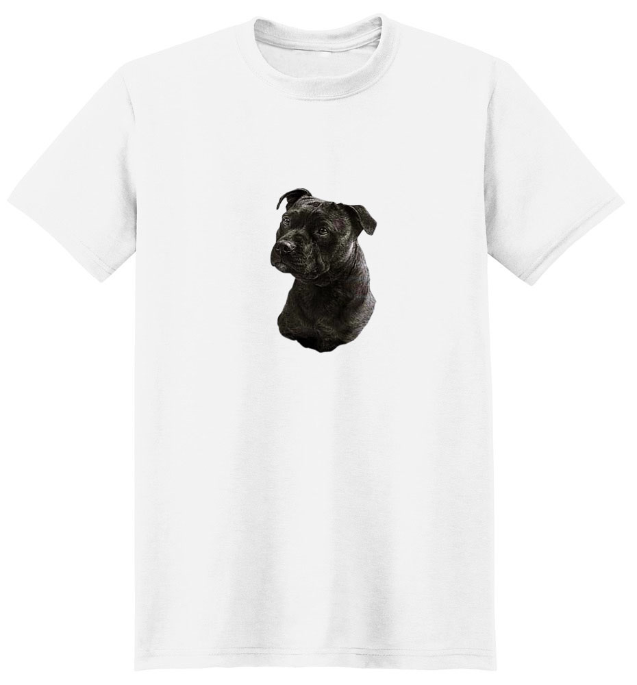 Staffordshire Bull Terrier T-Shirt - Eye Catching Detail