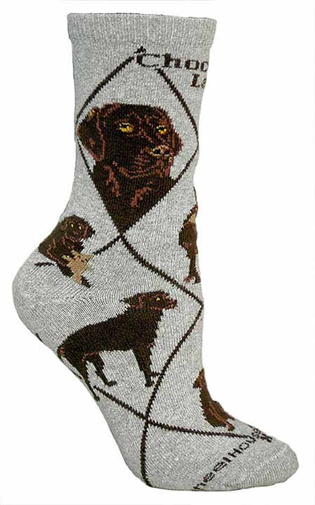 Chocolate Lab Socks