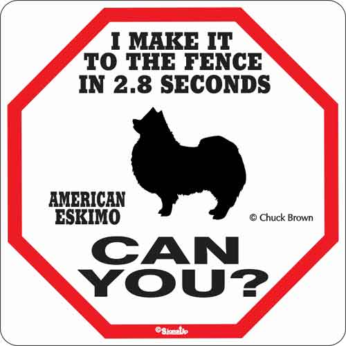 American Eskimo 2.8 Seconds Sign
