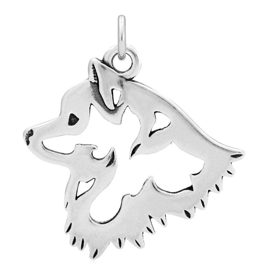 Sterling Silver American Eskimo Head Necklace