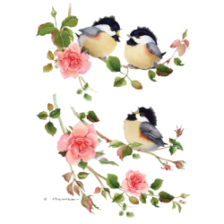 Chickadee T Shirt Chicks & Roses