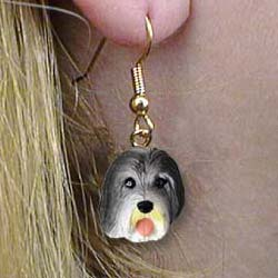 Bearded Collie Authentic Earrings