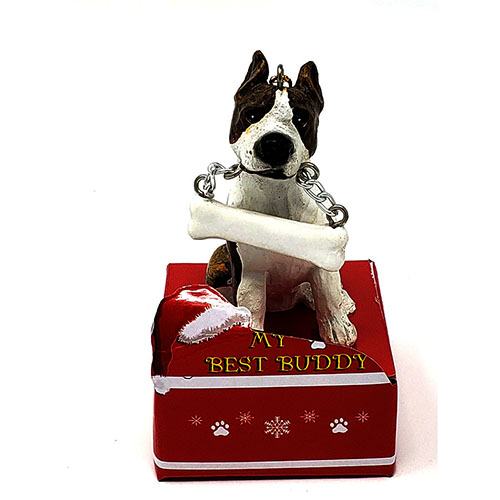 My Best Buddy Pitbull Terrier Christmas Ornament