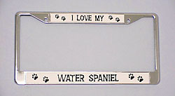 Water Spaniel License Plate Frame