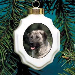 Anatolian Shepherd Christmas Ornament Porcelain