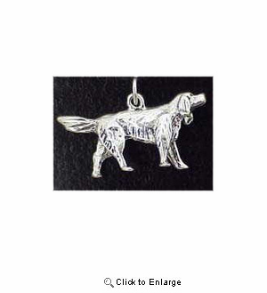 Irish Setter Sterling Silver Charm