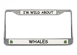 Whale License Plate Frame