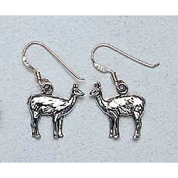 Llama Earrings Sterling Silver