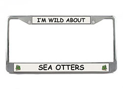 Sea Otter License Plate Frame