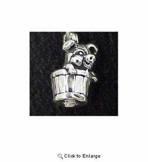 Pig Sterling Silver Charm