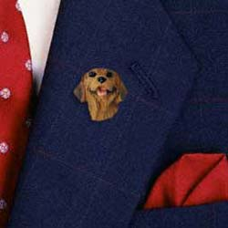 Rhodesian Ridgeback Lapel Pin Hand Painted Resin