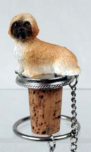Lhasa Apso Bottle Stopper (Brown Sport cut)