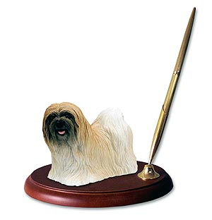 Lhasa Apso Pen Holder (Brown)