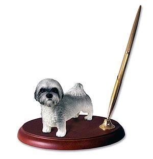 Lhasa Apso Pen Holder ( Gray Sport cut)