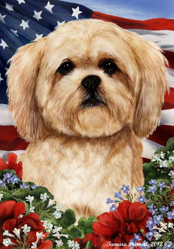 Lhasa Apso House Flag